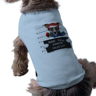 Funny jack russell ,Mugshot dog Dog Tshirt