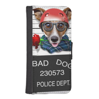 Funny jack russell ,Mugshot dog iPhone SE/5/5s Wallet Case