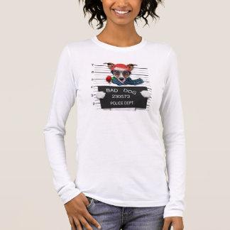 Funny jack russell ,Mugshot dog Long Sleeve T-Shirt