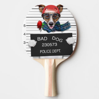 Funny jack russell ,Mugshot dog Ping Pong Paddle