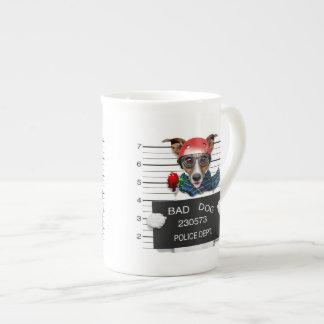 Funny jack russell ,Mugshot dog Tea Cup