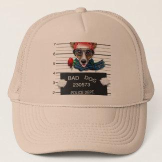 Funny jack russell ,Mugshot dog Trucker Hat