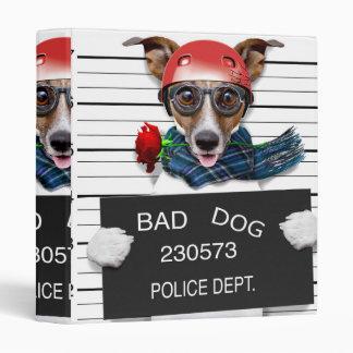 Funny jack russell ,Mugshot dog Vinyl Binder