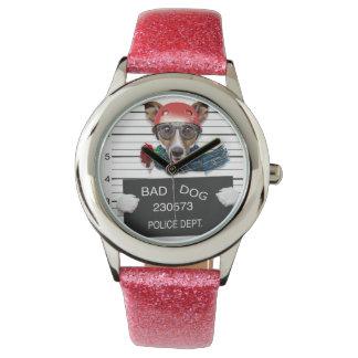 Funny jack russell ,Mugshot dog Watch