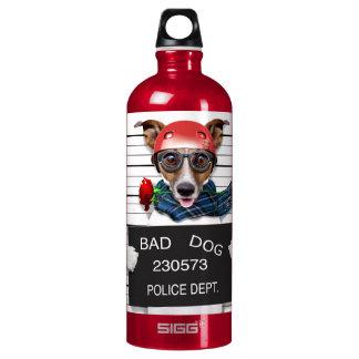 Funny jack russell ,Mugshot dog Water Bottle
