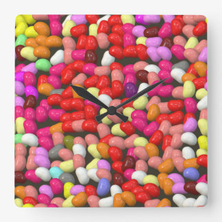 funny Jelly Mix Square Wall Clock
