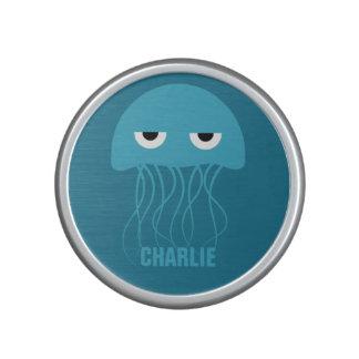 Funny Jellyfish custom monogram bluetooth speaker