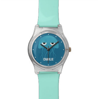 Funny Jellyfish custom monogram watches
