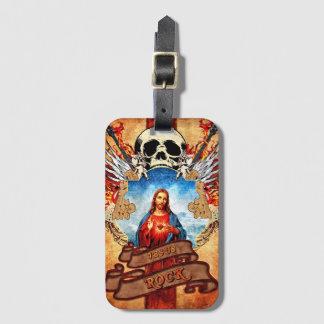 Funny Jesus rock Luggage Tag