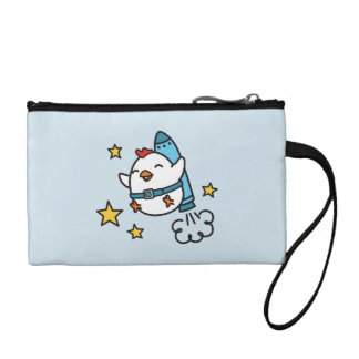 Funny Jetpack Chicken Design Coin Purse