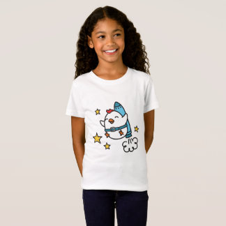 Funny Jetpack Chicken Design T-Shirt
