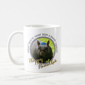 Funny Jewish Squirrel • Happy Hanukkah Coffee Mug