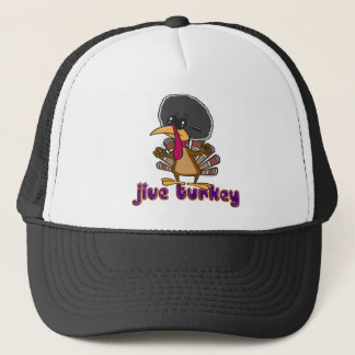 funny jive turkey cartoon with text trucker hat