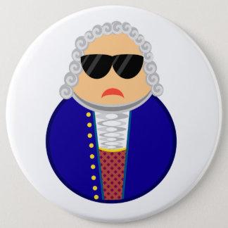 Funny Johann Sebastian Bach Composer 6 Inch Round Button