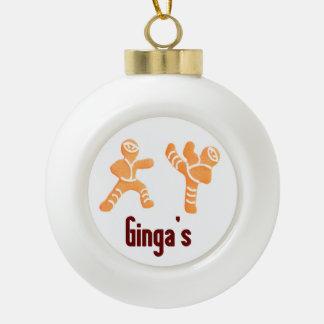 Funny Joke Christmas Gingerbread Ninja Ornament