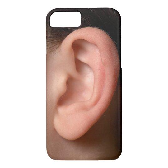 Funny Joke Humourous Left Ear Photo Illusion iPhone 8/7 Case