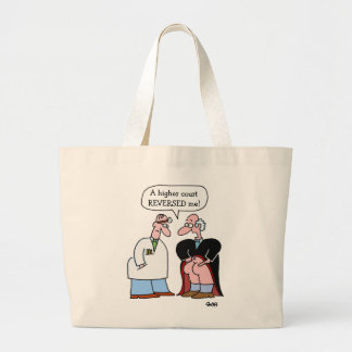 Funny Judge Cartoon Lawyer Large Tote Bag
