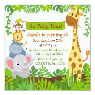 Safari Birthday Invitations Announcements Zazzle Canada