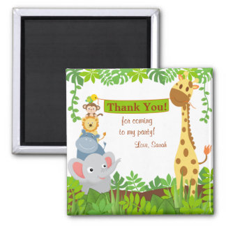 Funny Jungle Animals Thank You Magnet Fridge Magnets
