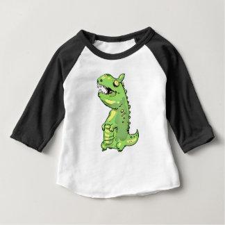 funny junior green dinosaur cartoon baby T-Shirt