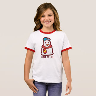 Funny Just Chill Snowman | Ringer Shirt