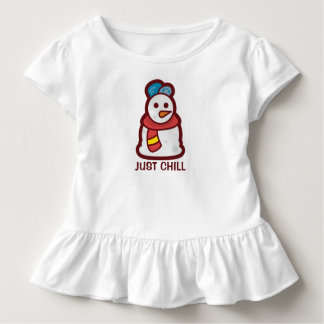 Funny Just Chill Snowman | Ruffle Tee