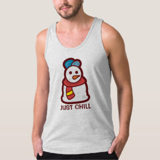 Funny Just Chill Snowman | Tank Top