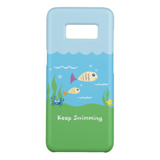 Funny Just Keep Swimming Underwater Ocean Fish Case-Mate Samsung Galaxy S8 Case