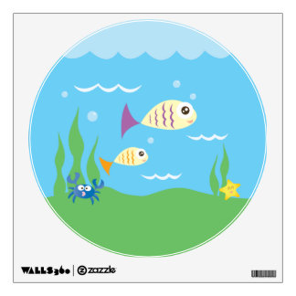 Funny Just Keep Swimming Underwater Ocean Fish Wall Decal