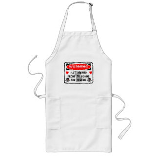 Funny Just Married Sign Long Apron