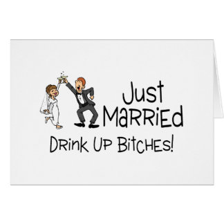 Funny Just Married Wedding Toast Card
