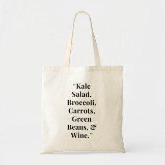 Funny Kale Salad Reusable Tote