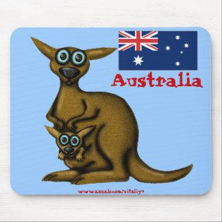 Funny kangaroo Australia mousepad