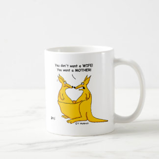 Funny Kangaroo Cartoon Sarcastic Male Female Humor Coffee Mug