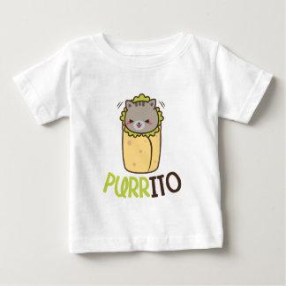 Funny Kawaii cat Burrito word art baby unisex Baby T-Shirt