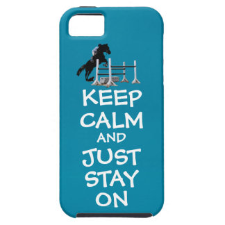 Funny Keep Calm & Just Stay On Horse iPhone 5 Cases
