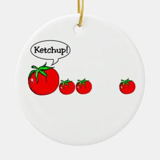 Funny Ketchup Joke Ornament