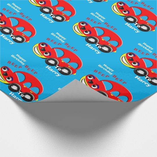 Funny Kids Cartoon Car Theme Personalized