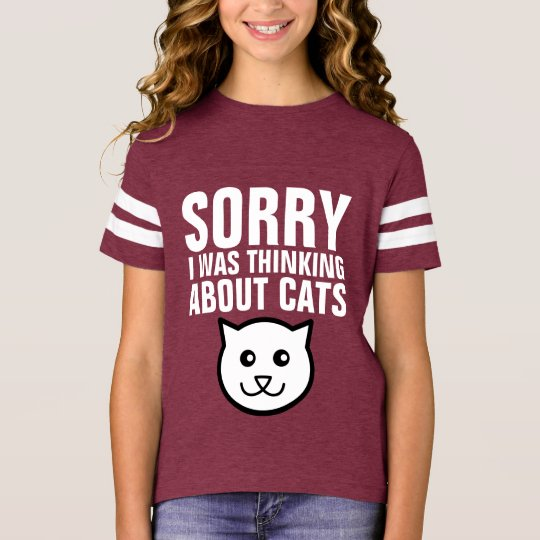 Funny KIDS CAT t-shirts, SORRY i WAS THINKING CATS T-Shirt