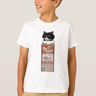 Funny Kids Chocolate Milk & Black Cat T-shirt