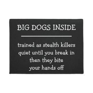 Funny Killer Dogs Front House Mat