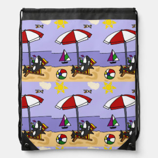 Funny Killer Whale at the Beach Backpack