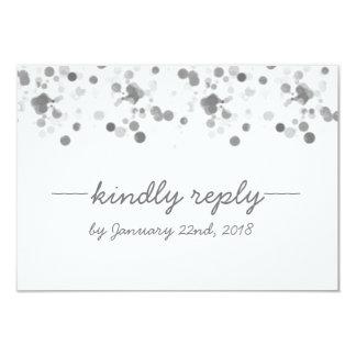 Funny Kindly Reply Polka Dots Wedding RSVP Card