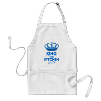Funny King of the Kitchen Crown Custom Name V4 Standard Apron