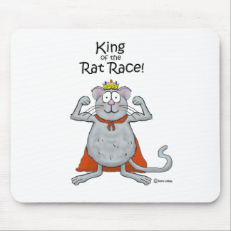 Funny King of the Rat Race Boss Boss's Day Mouse Pad