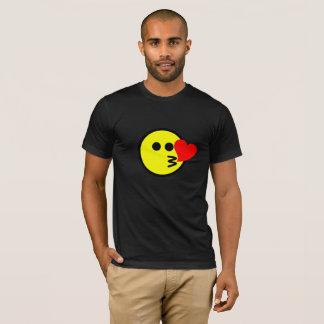 Funny Kissing Emoji Smiley Face T-Shirt