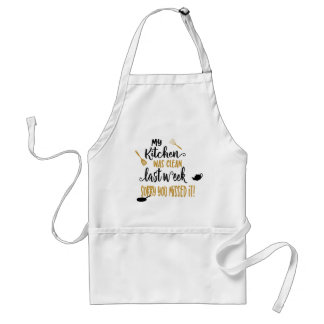 Funny kitchen word art cooking apron