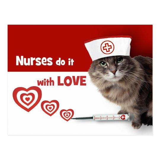 Funny Kitten Nurse Postcards