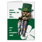 Funny Kitten St. Patrick's Day Greeting Cards