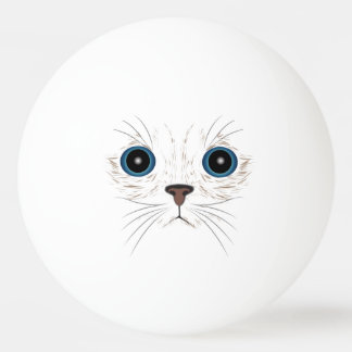 Funny kitty face ping pong ball